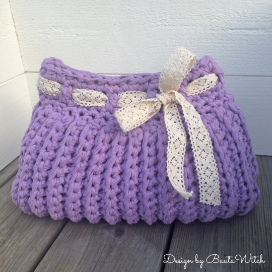 Bolsa Purple aseo crochet por BautaWitch