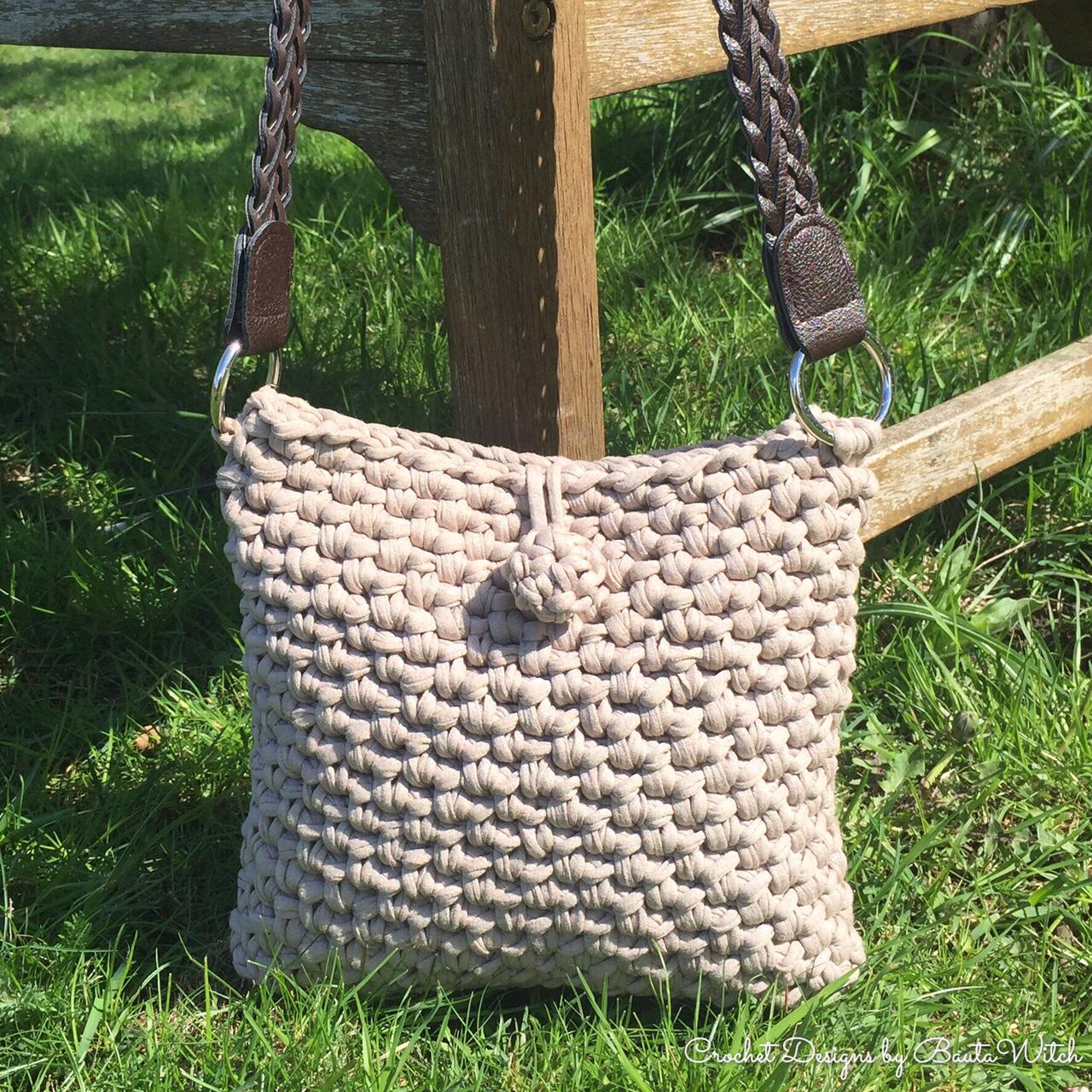DIY – Virkad handväska med eller utan fransar | BautaWitch