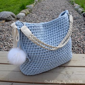 Ljusblå väska