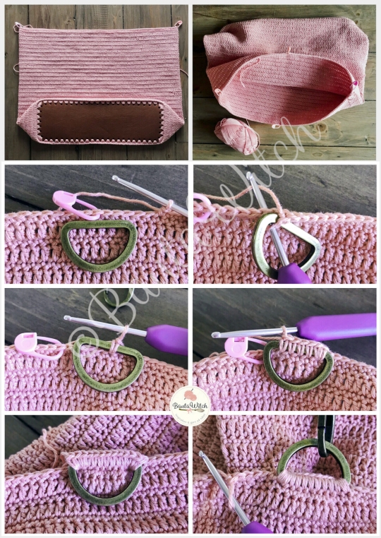 Rosa-väska-väskhandtag