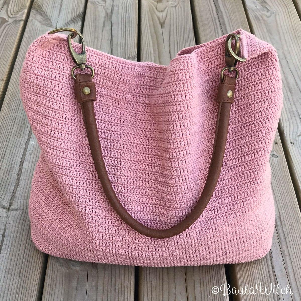 DIY - Virkad rosa väska i Catania