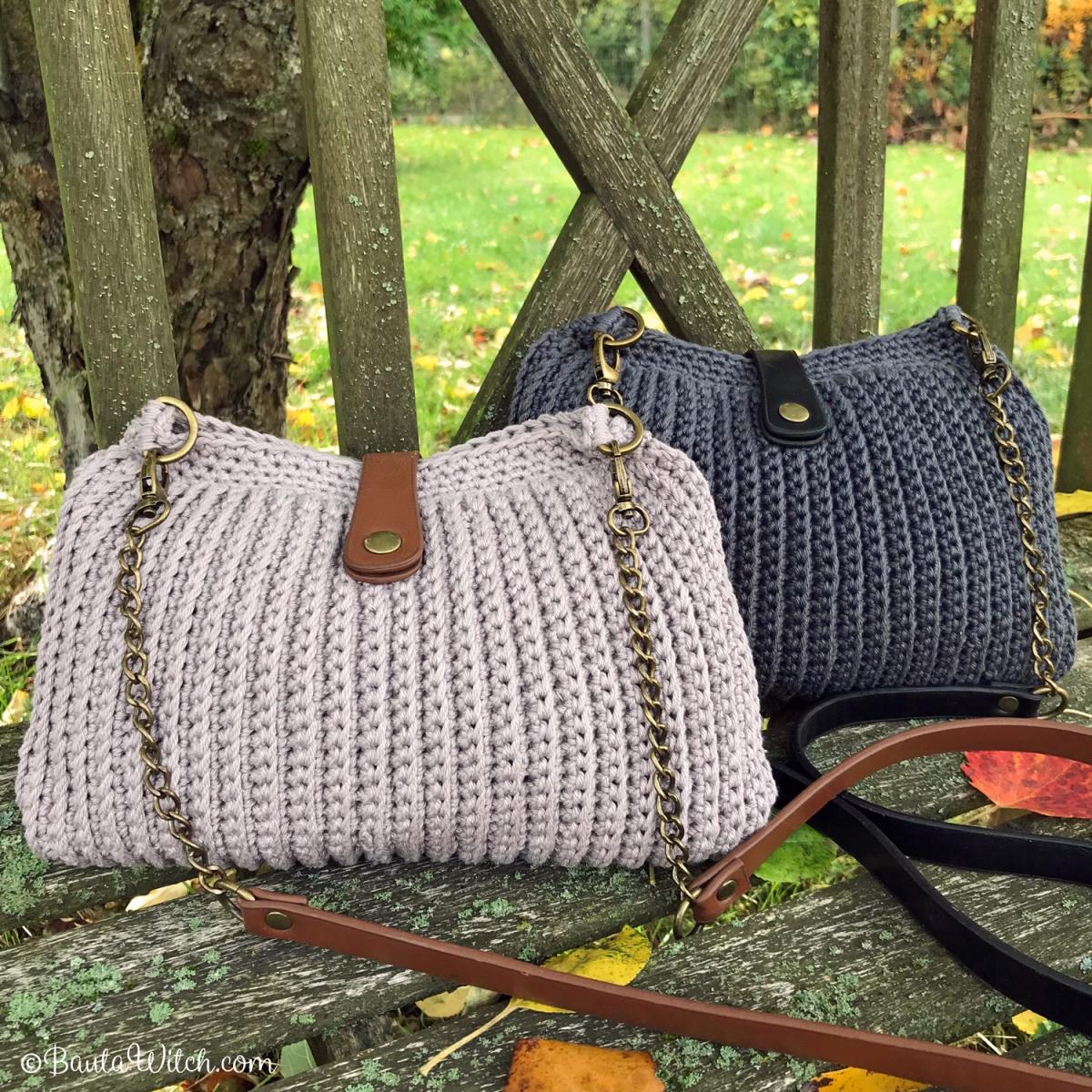DIY - Virkad handväska med snygga detaljer